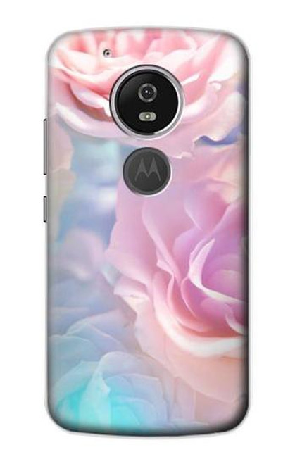 S3050 Vintage Pastel Flowers Case For Motorola Moto G6 Play, Moto G6 Forge, Moto E5