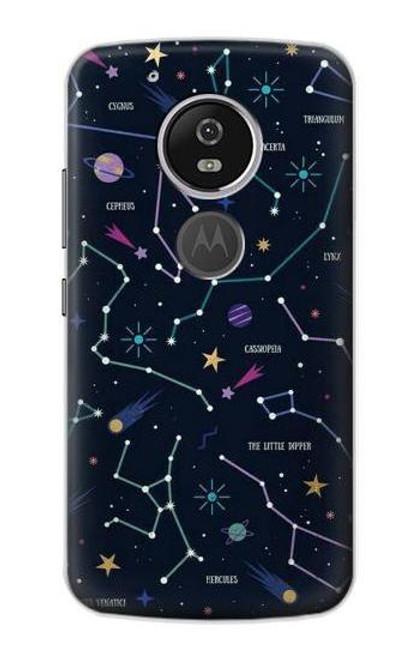 S3220 Star Map Zodiac Constellations Case For Motorola Moto G6 Play, Moto G6 Forge, Moto E5