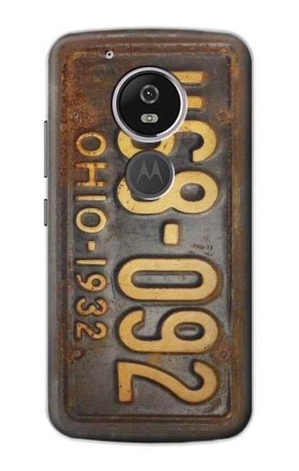 S3228 Vintage Car License Plate Case For Motorola Moto G6 Play, Moto G6 Forge, Moto E5