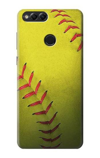 S3031 Yellow Softball Ball Case For Huawei Honor 7x, Huawei Mate SE