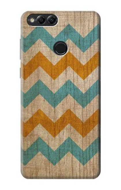 S3033 Vintage Wood Chevron Graphic Printed Case For Huawei Honor 7x, Huawei Mate SE