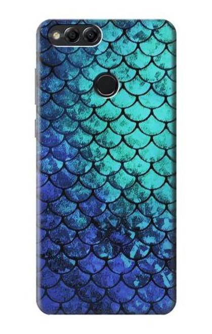 S3047 Green Mermaid Fish Scale Case For Huawei Honor 7x, Huawei Mate SE