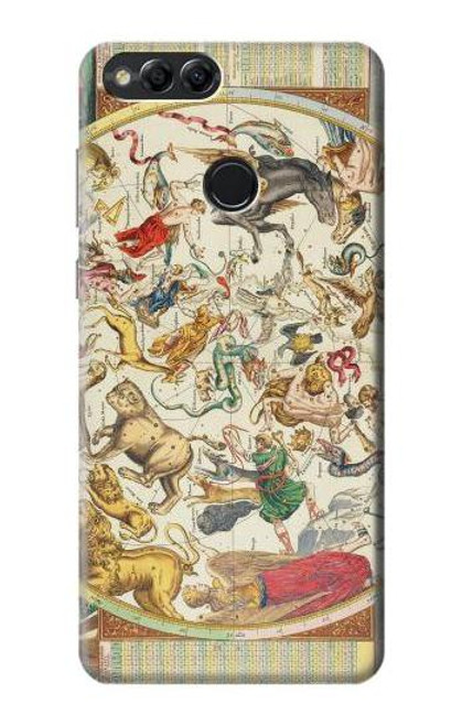 S3145 Antique Constellation Star Sky Map Case For Huawei Honor 7x, Huawei Mate SE