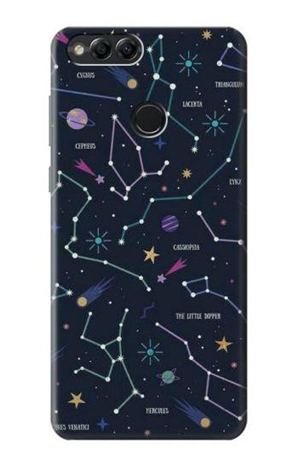 S3220 Star Map Zodiac Constellations Case For Huawei Honor 7x, Huawei Mate SE