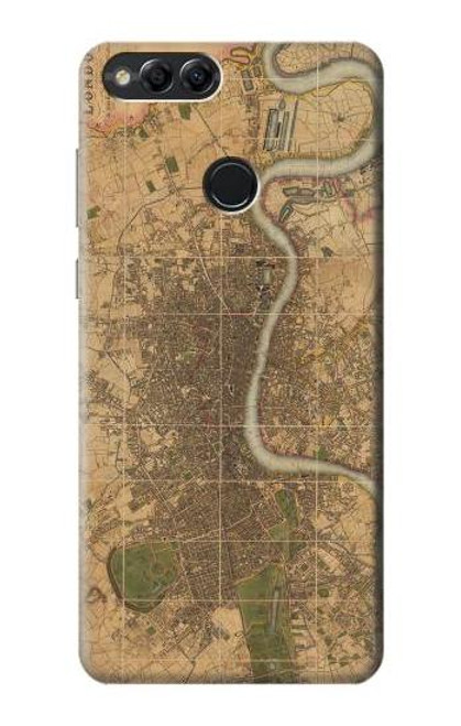 S3230 Vintage Map of London Case For Huawei Honor 7x, Huawei Mate SE