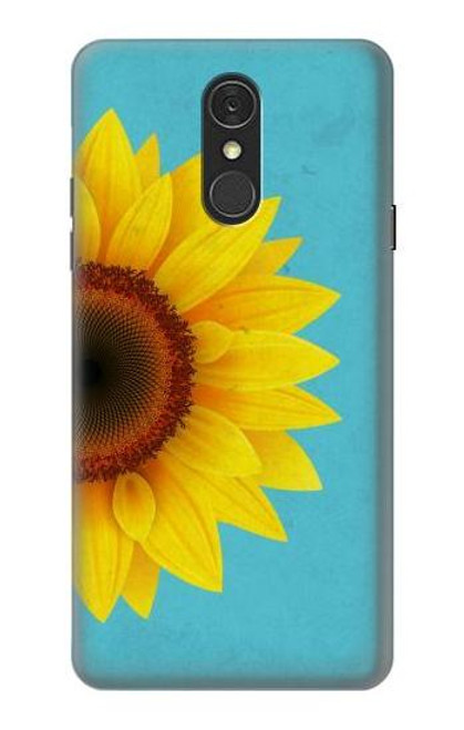 S3039 Vintage Sunflower Blue Case For LG Q7