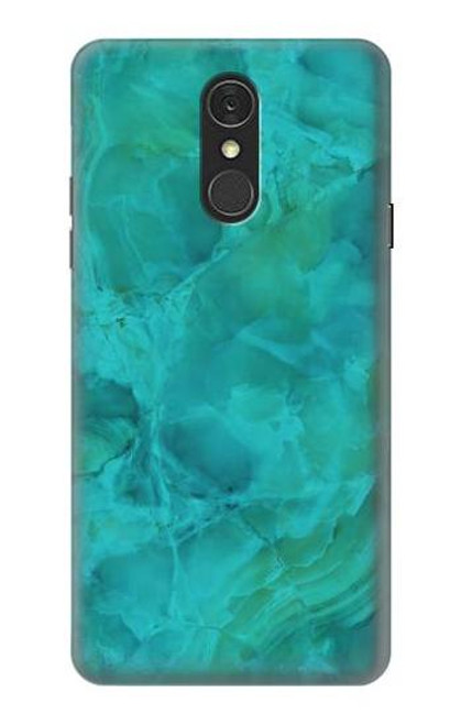 S3147 Aqua Marble Stone Case For LG Q7