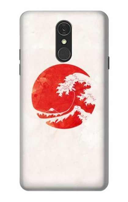 S3237 Waves Japan Flag Case For LG Q7