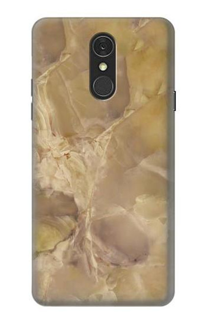 S3240 Yellow Marble Stone Case For LG Q7