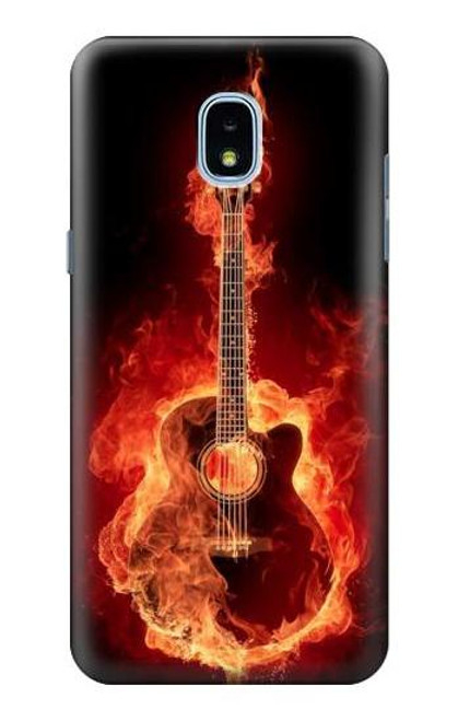 S0415 Fire Guitar Burn Case For Samsung Galaxy J3 (2018), J3 Star, J3 V 3rd Gen, J3 Orbit, J3 Achieve, Express Prime 3, Amp Prime 3