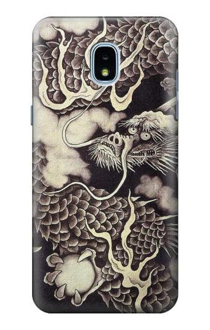 S2719 Japan Painting Dragon Case For Samsung Galaxy J3 (2018), J3 Star, J3 V 3rd Gen, J3 Orbit, J3 Achieve, Express Prime 3, Amp Prime 3