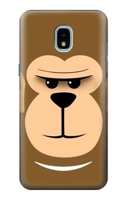S2721 Cute Grumpy Monkey Cartoon Case For Samsung Galaxy J3 (2018), J3 Star, J3 V 3rd Gen, J3 Orbit, J3 Achieve, Express Prime 3, Amp Prime 3