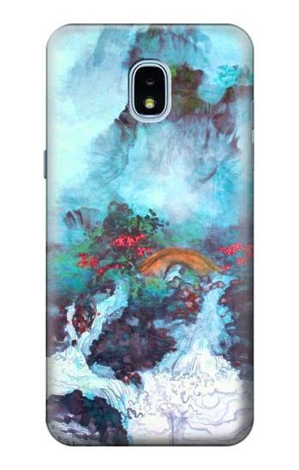 S2724 White Dragon Pool Lui Haisu Case For Samsung Galaxy J3 (2018), J3 Star, J3 V 3rd Gen, J3 Orbit, J3 Achieve, Express Prime 3, Amp Prime 3