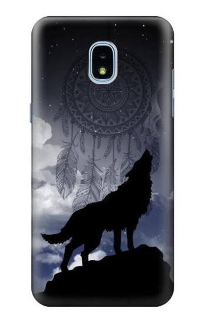 S3011 Dream Catcher Wolf Howling Case For Samsung Galaxy J3 (2018), J3 Star, J3 V 3rd Gen, J3 Orbit, J3 Achieve, Express Prime 3, Amp Prime 3