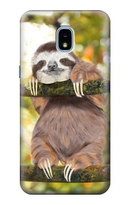 S3138 Cute Baby Sloth Paint Case For Samsung Galaxy J3 (2018), J3 Star, J3 V 3rd Gen, J3 Orbit, J3 Achieve, Express Prime 3, Amp Prime 3