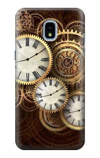 S3172 Gold Clock Live Case For Samsung Galaxy J3 (2018), J3 Star, J3 V 3rd Gen, J3 Orbit, J3 Achieve, Express Prime 3, Amp Prime 3
