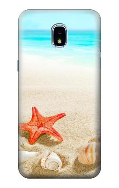 S3212 Sea Shells Starfish Beach Case For Samsung Galaxy J3 (2018), J3 Star, J3 V 3rd Gen, J3 Orbit, J3 Achieve, Express Prime 3, Amp Prime 3