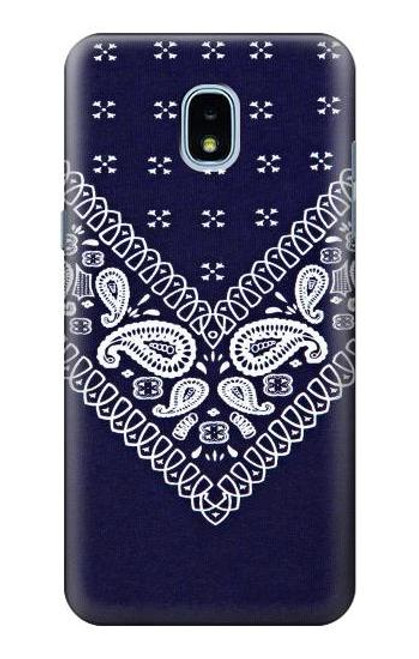 S3357 Navy Blue Bandana Pattern Case For Samsung Galaxy J3 (2018), J3 Star, J3 V 3rd Gen, J3 Orbit, J3 Achieve, Express Prime 3, Amp Prime 3