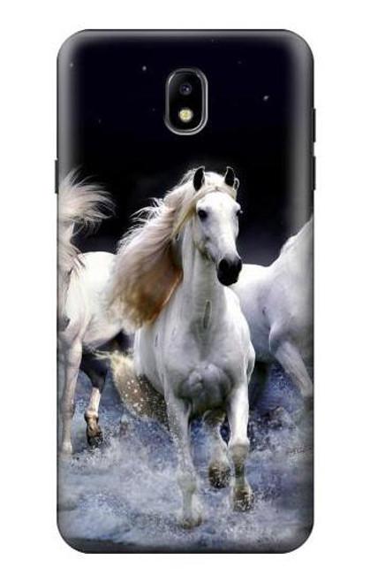 S0246 White Horse Case For Samsung Galaxy J7 (2018), J7 Aero, J7 Top, J7 Aura, J7 Crown, J7 Refine, J7 Eon, J7 V 2nd Gen, J7 Star