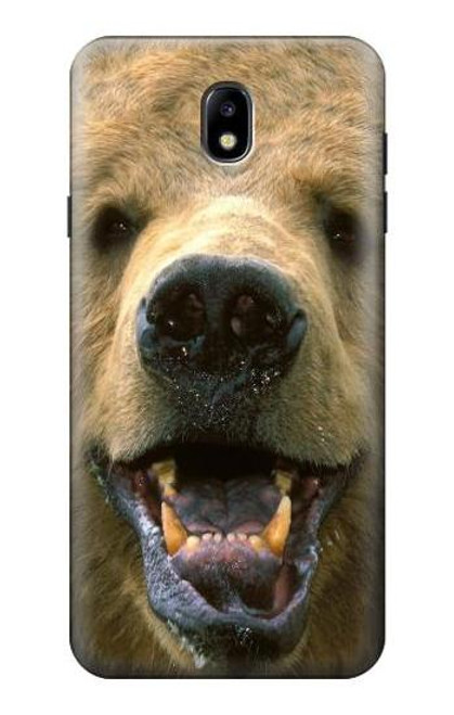 S0840 Grizzly Bear Face Case For Samsung Galaxy J7 (2018), J7 Aero, J7 Top, J7 Aura, J7 Crown, J7 Refine, J7 Eon, J7 V 2nd Gen, J7 Star