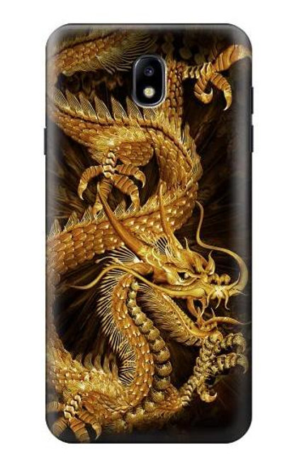 S2804 Chinese Gold Dragon Printed Case For Samsung Galaxy J7 (2018), J7 Aero, J7 Top, J7 Aura, J7 Crown, J7 Refine, J7 Eon, J7 V 2nd Gen, J7 Star