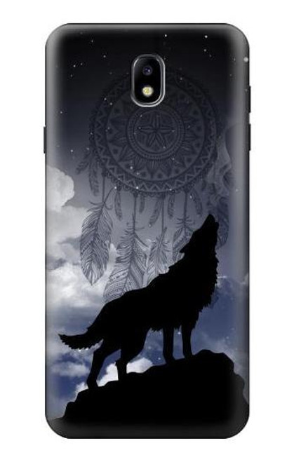 S3011 Dream Catcher Wolf Howling Case For Samsung Galaxy J7 (2018), J7 Aero, J7 Top, J7 Aura, J7 Crown, J7 Refine, J7 Eon, J7 V 2nd Gen, J7 Star