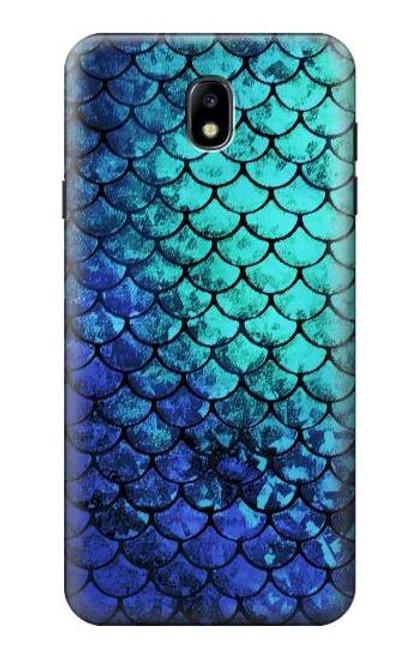 S3047 Green Mermaid Fish Scale Case For Samsung Galaxy J7 (2018), J7 Aero, J7 Top, J7 Aura, J7 Crown, J7 Refine, J7 Eon, J7 V 2nd Gen, J7 Star