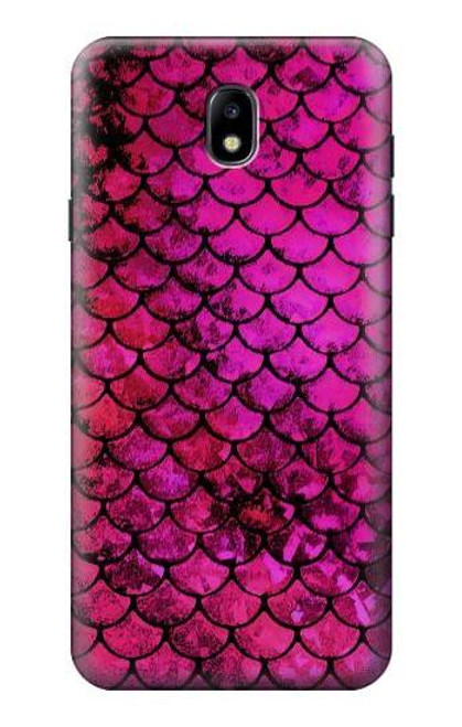 S3051 Pink Mermaid Fish Scale Case For Samsung Galaxy J7 (2018), J7 Aero, J7 Top, J7 Aura, J7 Crown, J7 Refine, J7 Eon, J7 V 2nd Gen, J7 Star