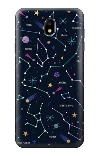 S3220 Star Map Zodiac Constellations Case For Samsung Galaxy J7 (2018), J7 Aero, J7 Top, J7 Aura, J7 Crown, J7 Refine, J7 Eon, J7 V 2nd Gen, J7 Star