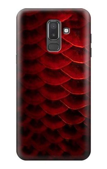 S2879 Red Arowana Fish Scale Case For Samsung Galaxy J8 (2018)