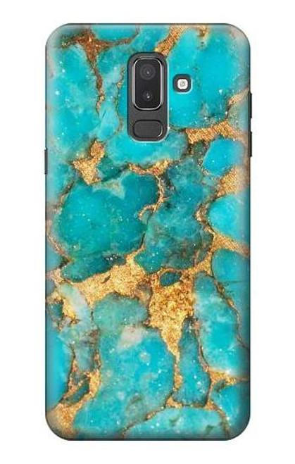 S2906 Aqua Turquoise Stone Case For Samsung Galaxy J8 (2018)