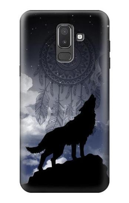 S3011 Dream Catcher Wolf Howling Case For Samsung Galaxy J8 (2018)