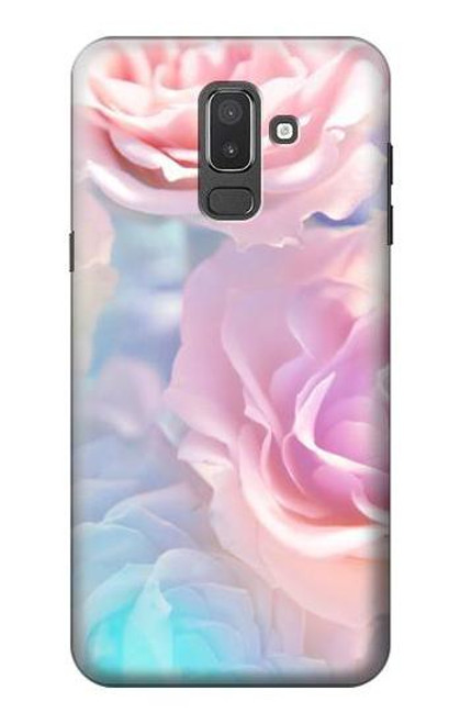 S3050 Vintage Pastel Flowers Case For Samsung Galaxy J8 (2018)