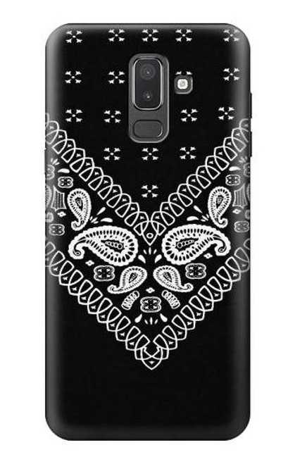 S3363 Bandana Black Pattern Case For Samsung Galaxy J8 (2018)