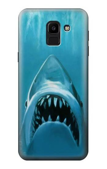 S0830 White Shark Case For Samsung Galaxy J6 (2018)