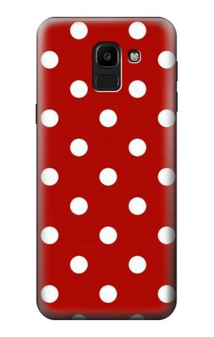 S2951 Red Polka Dots Case For Samsung Galaxy J6 (2018)