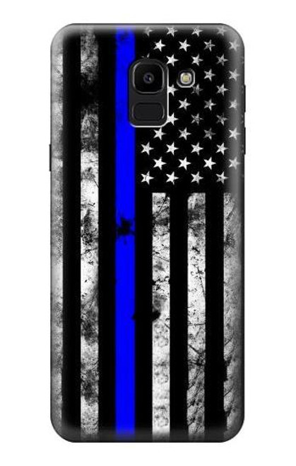 S3244 Thin Blue Line USA Case For Samsung Galaxy J6 (2018)