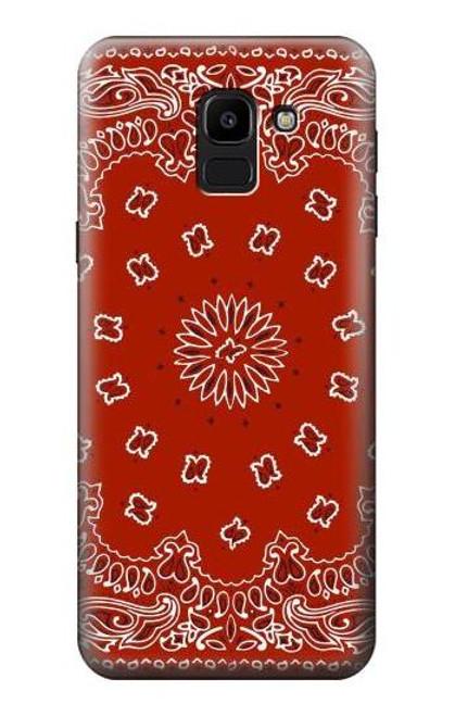 S3355 Bandana Red Pattern Case For Samsung Galaxy J6 (2018)