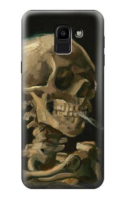 S3358 Vincent Van Gogh Skeleton Cigarette Case For Samsung Galaxy J6 (2018)