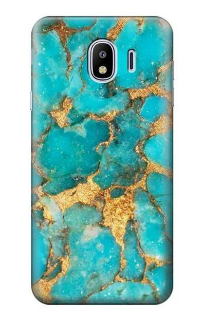 S2906 Aqua Turquoise Stone Case For Samsung Galaxy J4 (2018)