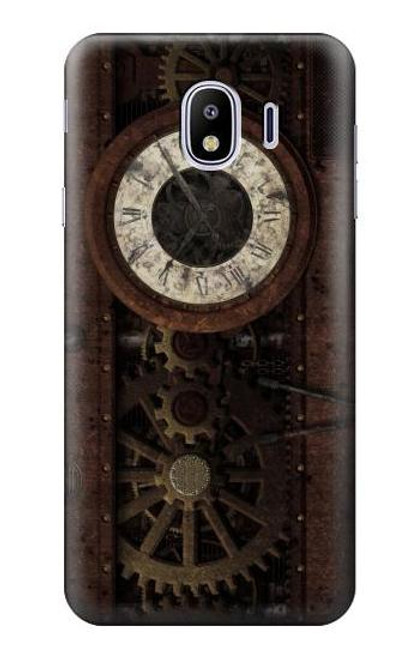 S3221 Steampunk Clock Gears Case For Samsung Galaxy J4 (2018)