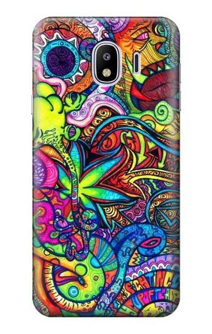 S3255 Colorful Art Pattern Case For Samsung Galaxy J4 (2018)