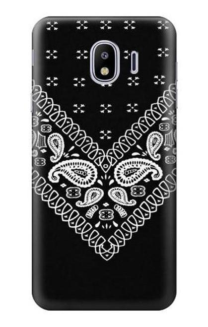 S3363 Bandana Black Pattern Case For Samsung Galaxy J4 (2018)