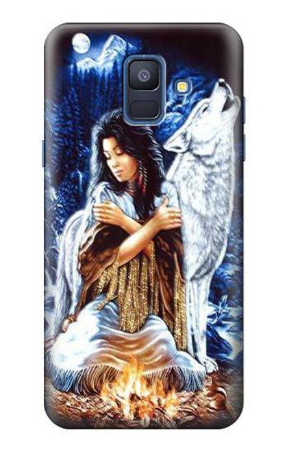 S0147 Grim Wolf Indian Girl Case For Samsung Galaxy A6 (2018)