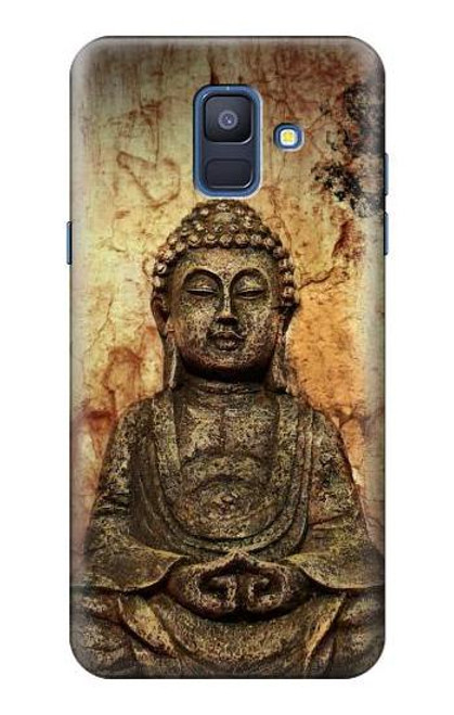 S0344 Buddha Rock Carving Case For Samsung Galaxy A6 (2018)