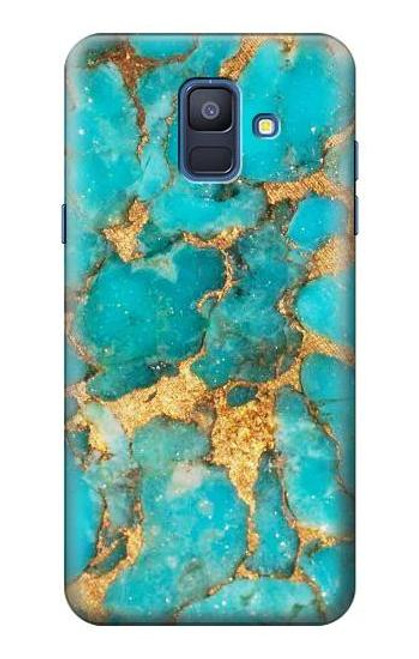 S2906 Aqua Turquoise Stone Case For Samsung Galaxy A6 (2018)