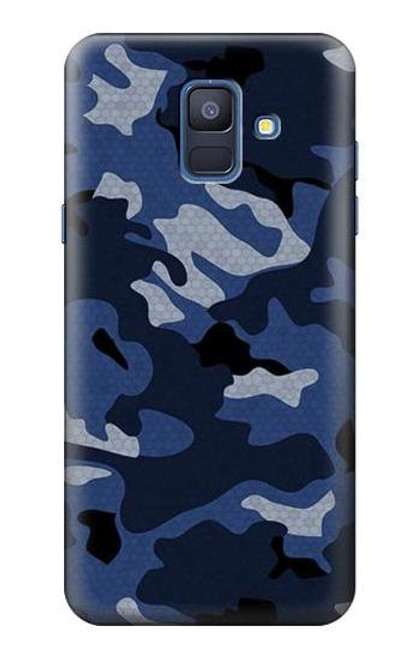 S2959 Navy Blue Camo Camouflage Case For Samsung Galaxy A6 (2018)