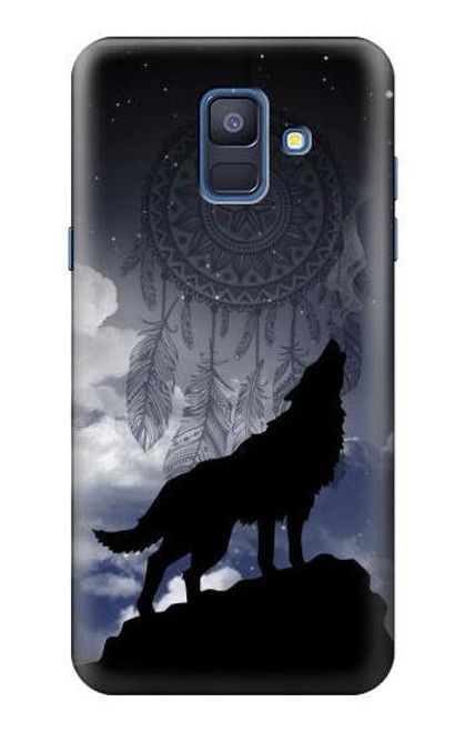 S3011 Dream Catcher Wolf Howling Case For Samsung Galaxy A6 (2018)