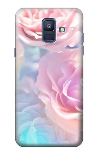 S3050 Vintage Pastel Flowers Case For Samsung Galaxy A6 (2018)