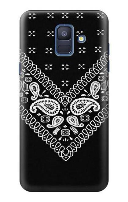 S3363 Bandana Black Pattern Case For Samsung Galaxy A6 (2018)